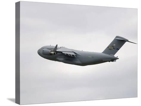 A C-17 Globemaster III in Flight-Stocktrek Images-Stretched Canvas Print