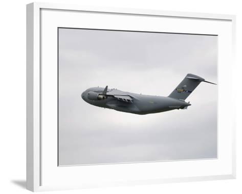 A C-17 Globemaster III in Flight-Stocktrek Images-Framed Art Print