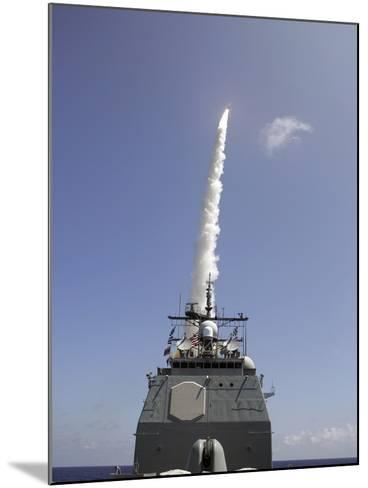 A Standard Missile 2 Is Launched from the Aegis Cruiser USS Lake Erie-Stocktrek Images-Mounted Photographic Print