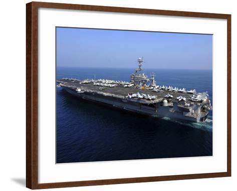 The Nimitz-class Aircraft Carrier USS John C. Stennis-Stocktrek Images-Framed Art Print