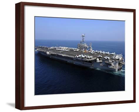 The Nimitz-class Aircraft Carrier USS John C. Stennis-Stocktrek Images-Framed Art Print