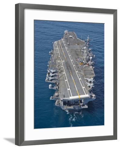 The Aircraft Carrier USS Carl Vinson in the Pacific Ocean-Stocktrek Images-Framed Art Print