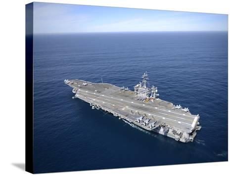 The Aircraft Carrier USS Carl Vinson in the Pacific Ocean-Stocktrek Images-Stretched Canvas Print