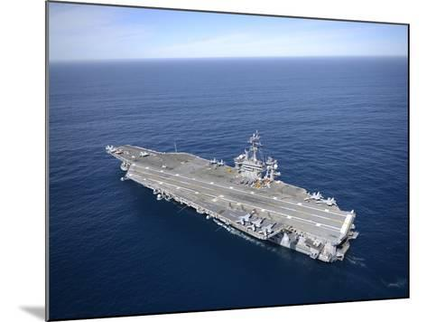 The Aircraft Carrier USS Carl Vinson in the Pacific Ocean-Stocktrek Images-Mounted Photographic Print