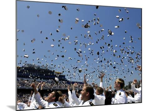 Graduates of the U.S. Naval Academy Throw Their Hats Into the Air-Stocktrek Images-Mounted Photographic Print