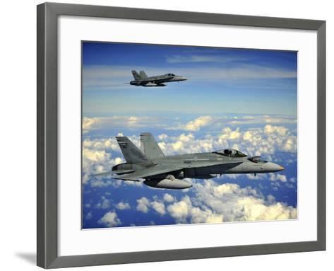 Two Royal Australian Air Force F/A-18 Hornets-Stocktrek Images-Framed Art Print