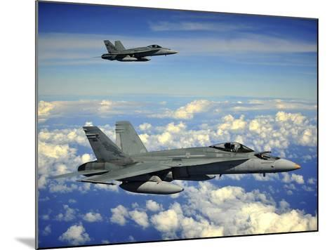 Two Royal Australian Air Force F/A-18 Hornets-Stocktrek Images-Mounted Photographic Print
