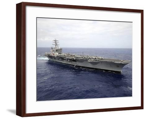 The Aircraft Carrier USS Nimitz Transits the Pacific Ocean-Stocktrek Images-Framed Art Print