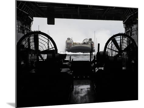 Landing Craft Air Cushion Approaches the Well Deck of USS San Antonio-Stocktrek Images-Mounted Photographic Print