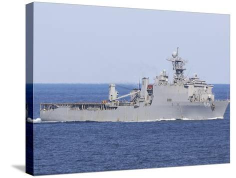 The Amphibious Dock Landing Ship USS Carter Hall-Stocktrek Images-Stretched Canvas Print