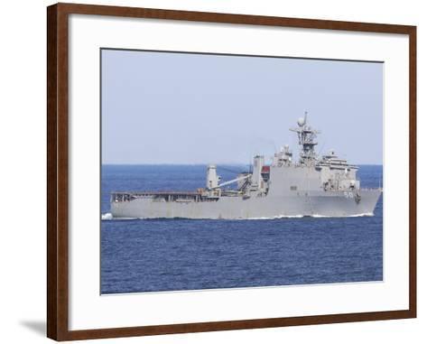 The Amphibious Dock Landing Ship USS Carter Hall-Stocktrek Images-Framed Art Print
