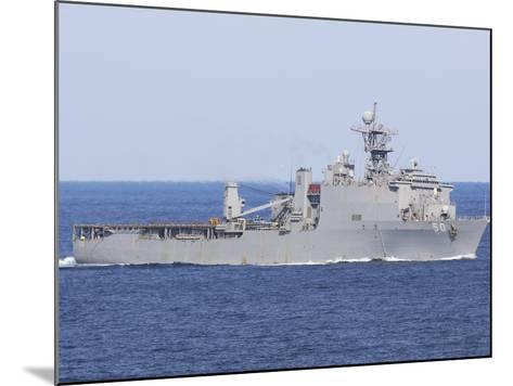 The Amphibious Dock Landing Ship USS Carter Hall-Stocktrek Images-Mounted Photographic Print