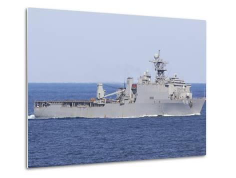 The Amphibious Dock Landing Ship USS Carter Hall-Stocktrek Images-Metal Print
