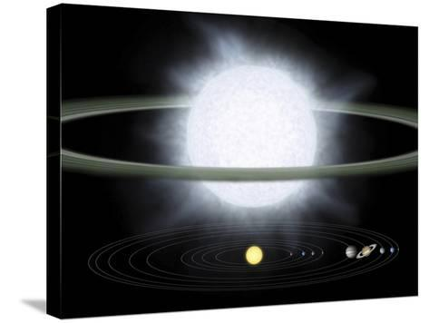 Comparison of the Size of a Hypergiant Star To That of Our Solar System-Stocktrek Images-Stretched Canvas Print