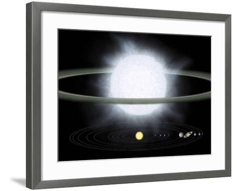 Comparison of the Size of a Hypergiant Star To That of Our Solar System-Stocktrek Images-Framed Art Print