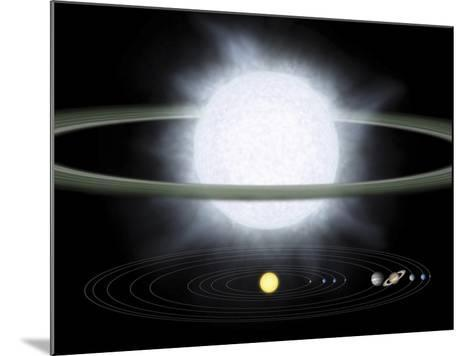 Comparison of the Size of a Hypergiant Star To That of Our Solar System-Stocktrek Images-Mounted Photographic Print
