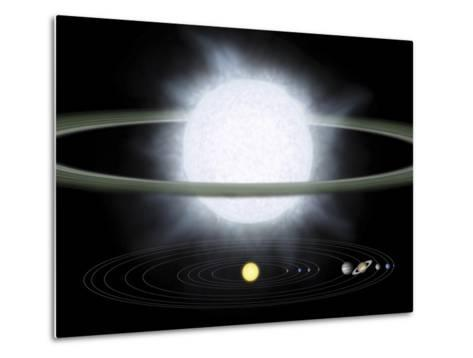 Comparison of the Size of a Hypergiant Star To That of Our Solar System-Stocktrek Images-Metal Print