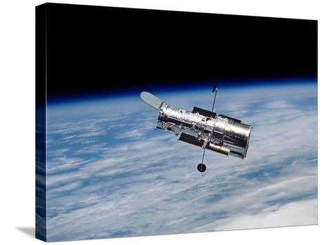 Hubble Space Telescope in Orbit Around Earth-Stocktrek Images-Stretched Canvas Print