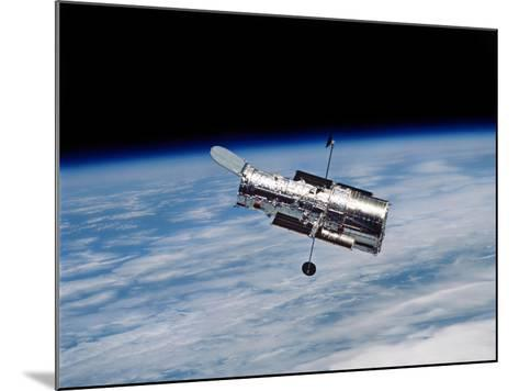 Hubble Space Telescope in Orbit Around Earth-Stocktrek Images-Mounted Photographic Print