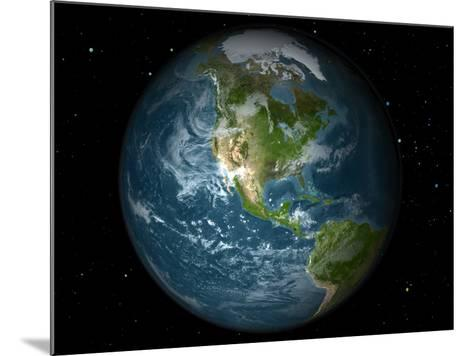 Full Earth View Showing North America-Stocktrek Images-Mounted Photographic Print