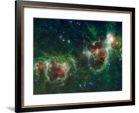 Infrared Mosaic of the Heart And Soul Nebulae in the Constellation Cassiopeia-Stocktrek Images-Framed Art Print