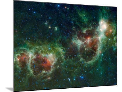 Infrared Mosaic of the Heart And Soul Nebulae in the Constellation Cassiopeia-Stocktrek Images-Mounted Photographic Print