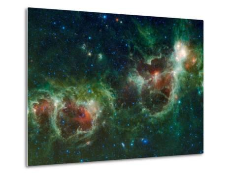 Infrared Mosaic of the Heart And Soul Nebulae in the Constellation Cassiopeia-Stocktrek Images-Metal Print