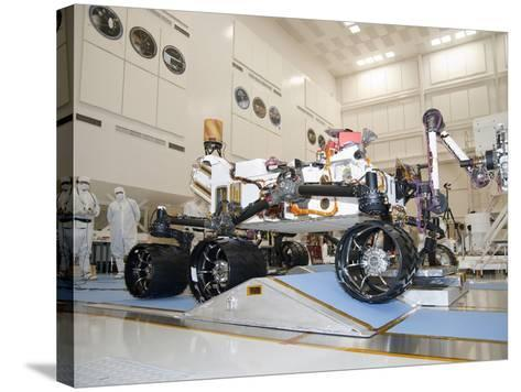 Curiosity Rover in the Testing Facility-Stocktrek Images-Stretched Canvas Print