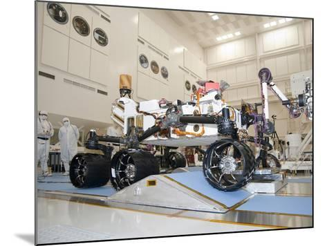 Curiosity Rover in the Testing Facility-Stocktrek Images-Mounted Photographic Print