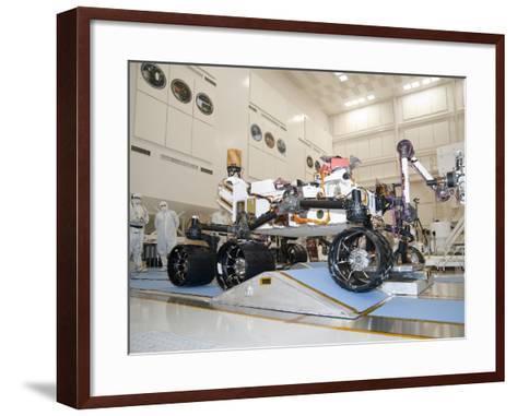 Curiosity Rover in the Testing Facility-Stocktrek Images-Framed Art Print