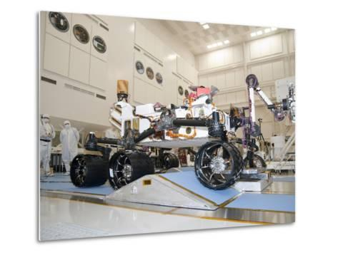 Curiosity Rover in the Testing Facility-Stocktrek Images-Metal Print