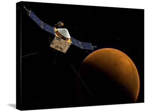 Artist's Concept of NASA's MAVEN Spacecraft-Stocktrek Images-Stretched Canvas Print