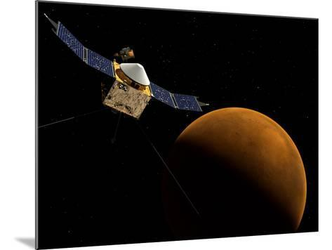 Artist's Concept of NASA's MAVEN Spacecraft-Stocktrek Images-Mounted Photographic Print