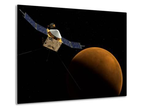 Artist's Concept of NASA's MAVEN Spacecraft-Stocktrek Images-Metal Print