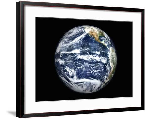 View of Full Earth Centered Over the Pacific Ocean-Stocktrek Images-Framed Art Print