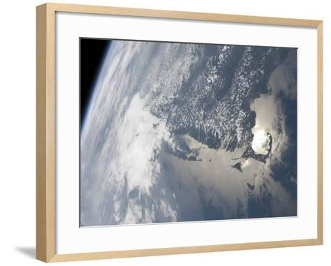 Sunglint On the Waters of Earth-Stocktrek Images-Framed Art Print