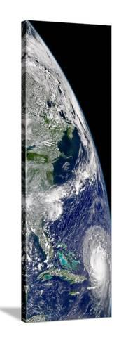 View of Hurricane Frances On a Partial View of Earth-Stocktrek Images-Stretched Canvas Print