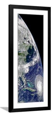 View of Hurricane Frances On a Partial View of Earth-Stocktrek Images-Framed Art Print