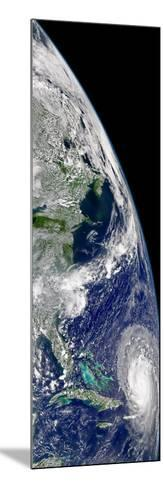 View of Hurricane Frances On a Partial View of Earth-Stocktrek Images-Mounted Photographic Print
