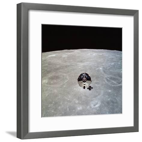 The Apollo 10 Command And Service Modules in Lunar Orbit-Stocktrek Images-Framed Art Print