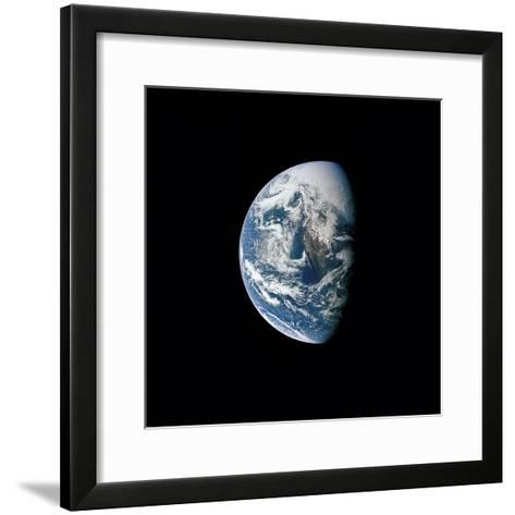 View of Earth Taken from the Apollo 13 Spacecraft-Stocktrek Images-Framed Art Print