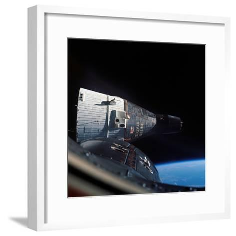 The Gemini 7 Spacecraft in Earth Orbit-Stocktrek Images-Framed Art Print