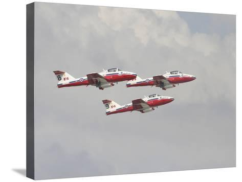 The Snowbirds 431 Air Demonstration Squadron of the Royal Canadian Air Force-Stocktrek Images-Stretched Canvas Print
