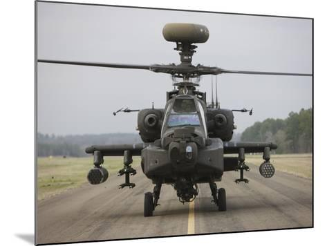 AH-64 Apache Helicopter On the Runway-Stocktrek Images-Mounted Photographic Print