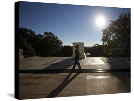 Honor Guard at the Tomb of the Unknowns, Arlington National Cemetery-Stocktrek Images-Stretched Canvas Print