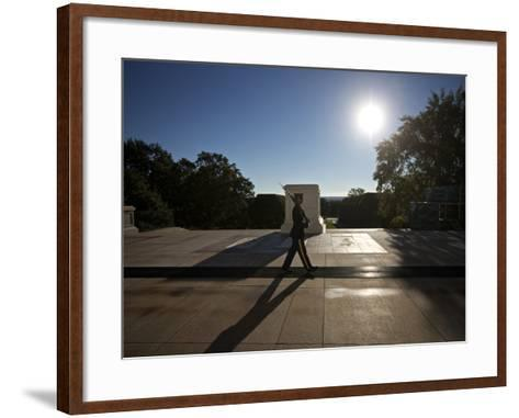 Honor Guard at the Tomb of the Unknowns, Arlington National Cemetery-Stocktrek Images-Framed Art Print