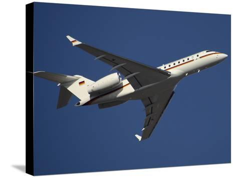 A Bombardier Global 5000 VIP Jet of the German Air Force-Stocktrek Images-Stretched Canvas Print
