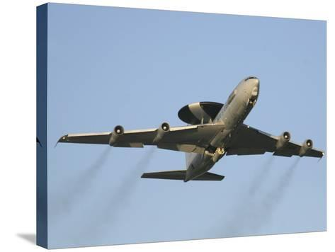 An E-3 Sentry Taking Off from the NATO AWACS Base, Germany-Stocktrek Images-Stretched Canvas Print
