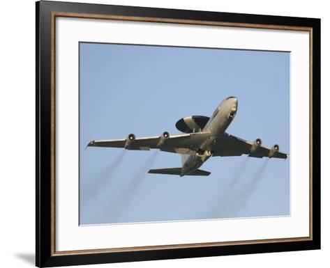 An E-3 Sentry Taking Off from the NATO AWACS Base, Germany-Stocktrek Images-Framed Art Print
