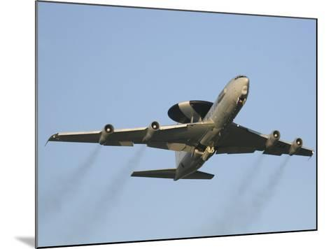 An E-3 Sentry Taking Off from the NATO AWACS Base, Germany-Stocktrek Images-Mounted Photographic Print